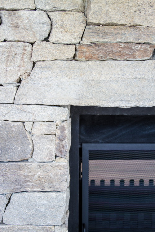 Stone Detail around fireplace