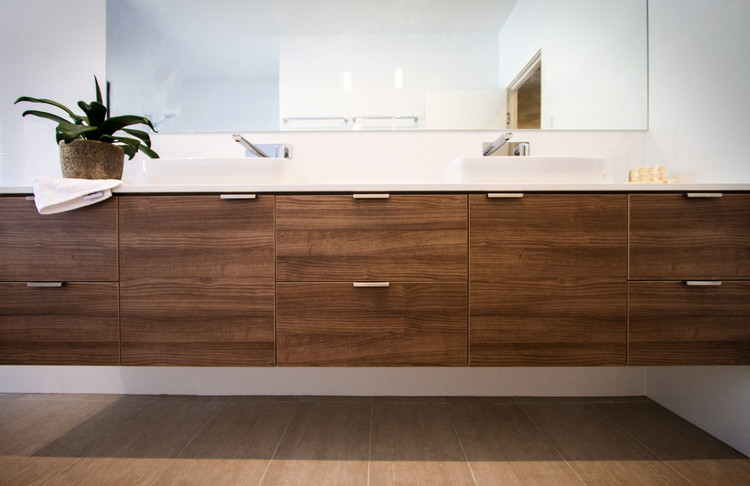 Bathroom|Timber veneer drawers