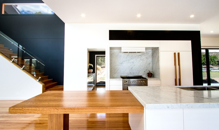 Contemporary Kitchen|Scullery|Integrated Blackbutt table